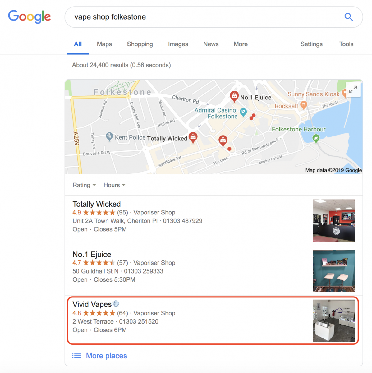 SEO Pages Google-Local-SEO-Optimisation-SEOPages-London-SEO Case Study: Vape Shop Local SEO Local SEO SEO Case Study